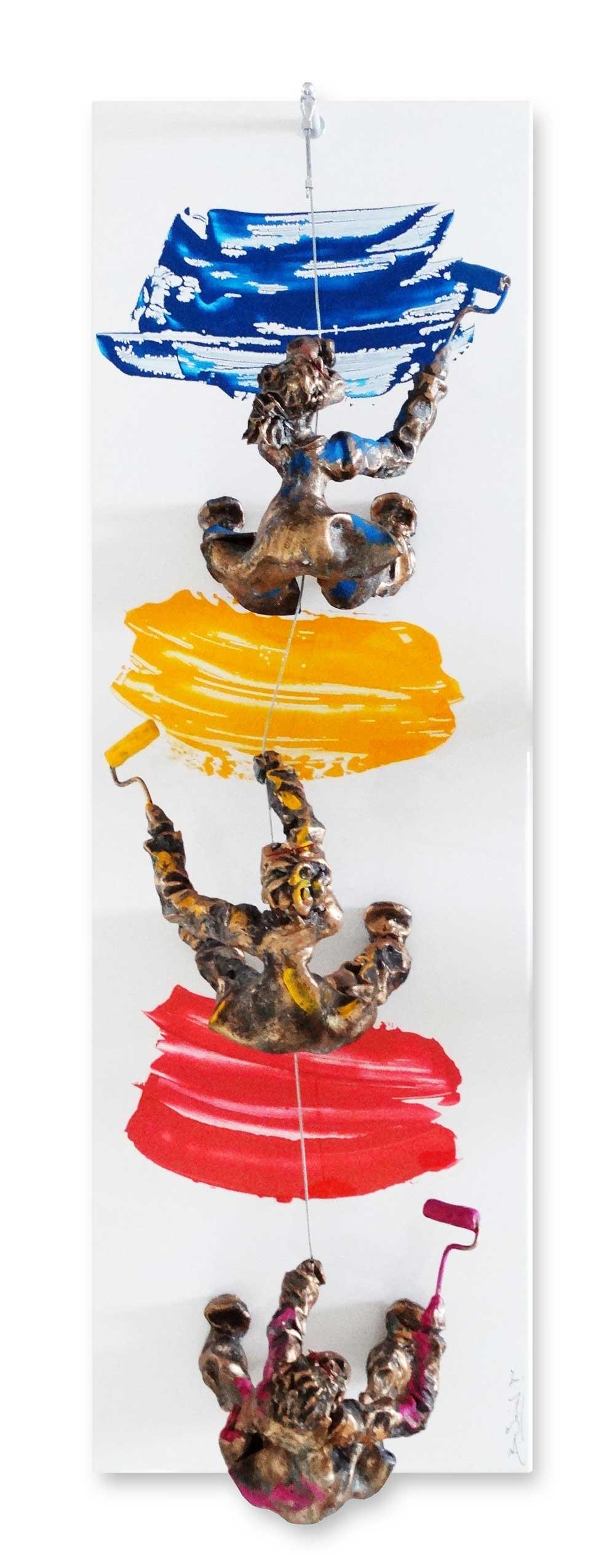 Bernard Saint Maxent - Escalade - 40x120cm
