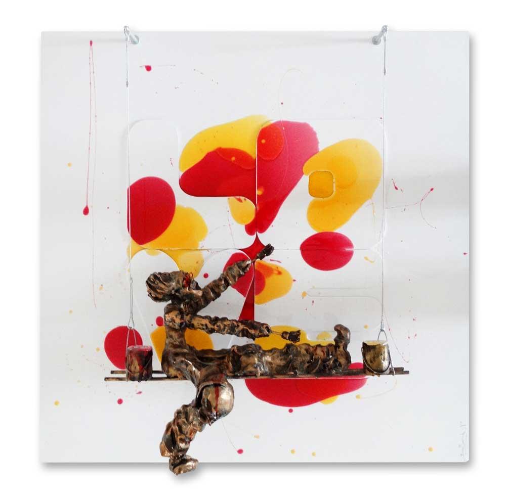 Bernard Saint Maxent - Glossy Love - 100x100cm