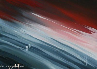 Huile sur toile - 908 - Renaître au Monde - 60x80cm - 1989