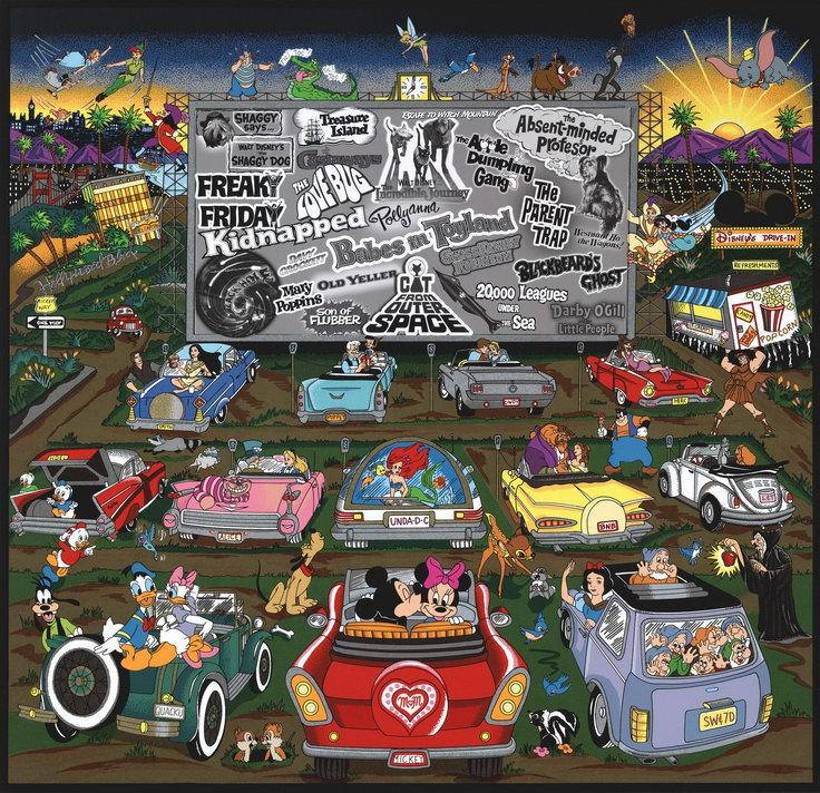 Charles Fazzino - Disney Drive