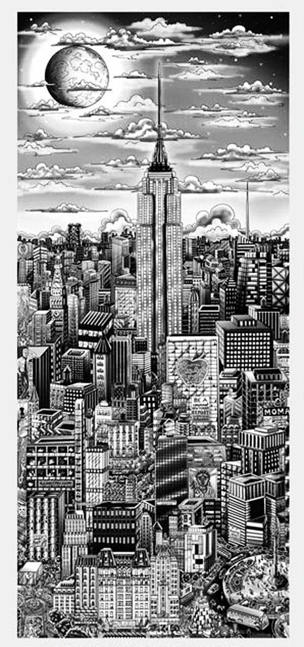 Charles Fazzino - Midnight-in-Manhattan--122x71cm