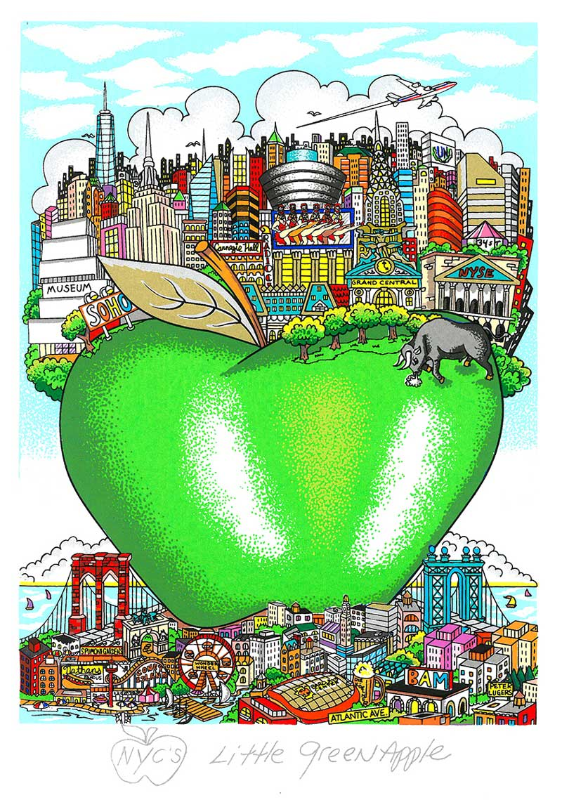 Charles Fazzino - NYC-Little-Green-Apple