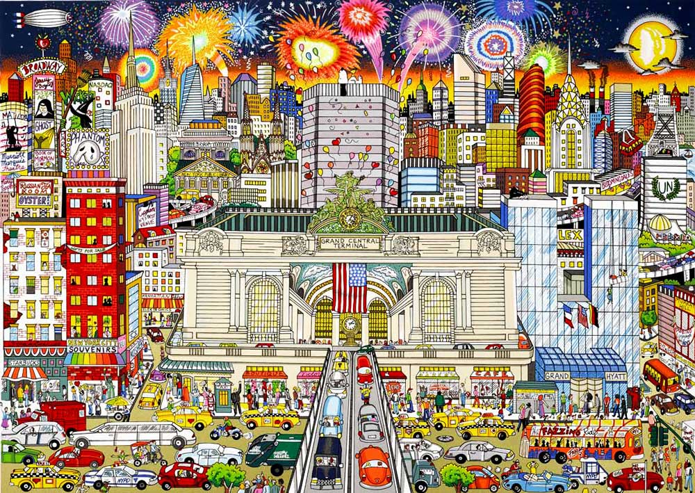 Charles Fazzino - New-York-s-Grand-celebration---81x104cm