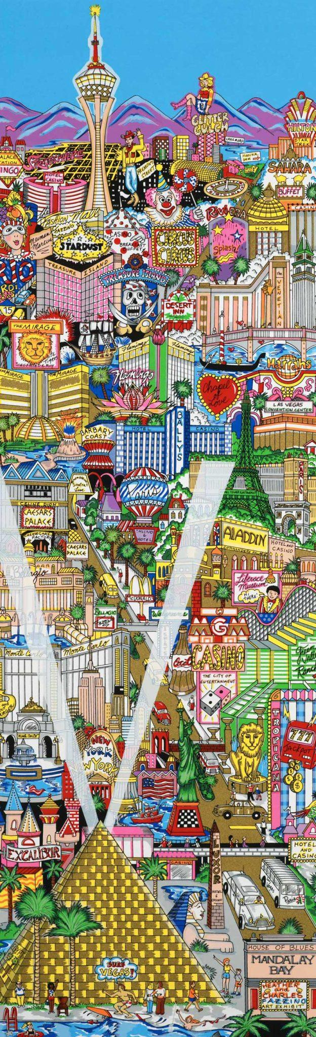 Charles Fazzino - Vegas-Vacation---125x63cm