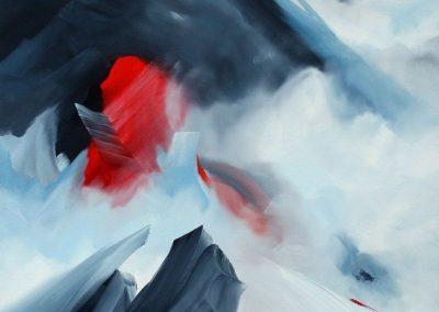 Huile sur toile - 831 - Everest solo - 80F