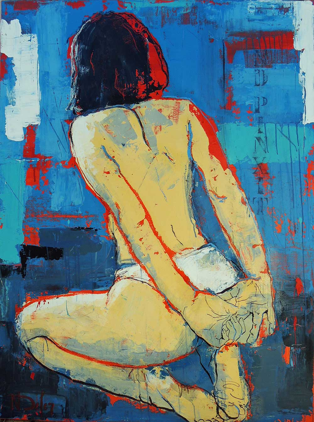 Richard Orlinski Wild Kong Galerie Bruxelles - Nadine DEFER sans-titre 97x130cm