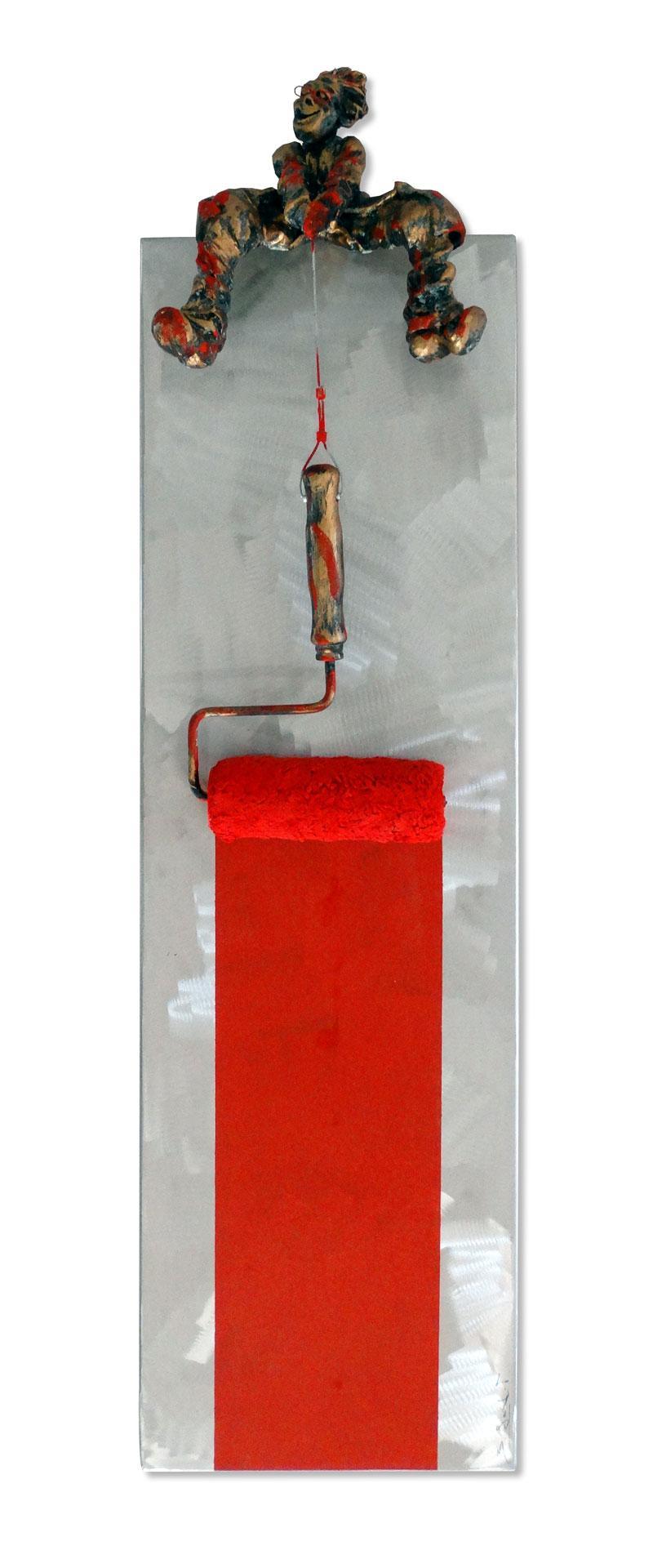 Bernard Saint Maxent - Roulette rouge - 30x100cm