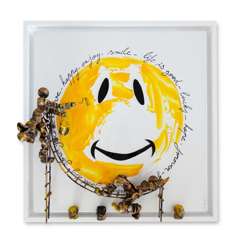 Bernard Saint Maxent - Smiley words - 80x80cm