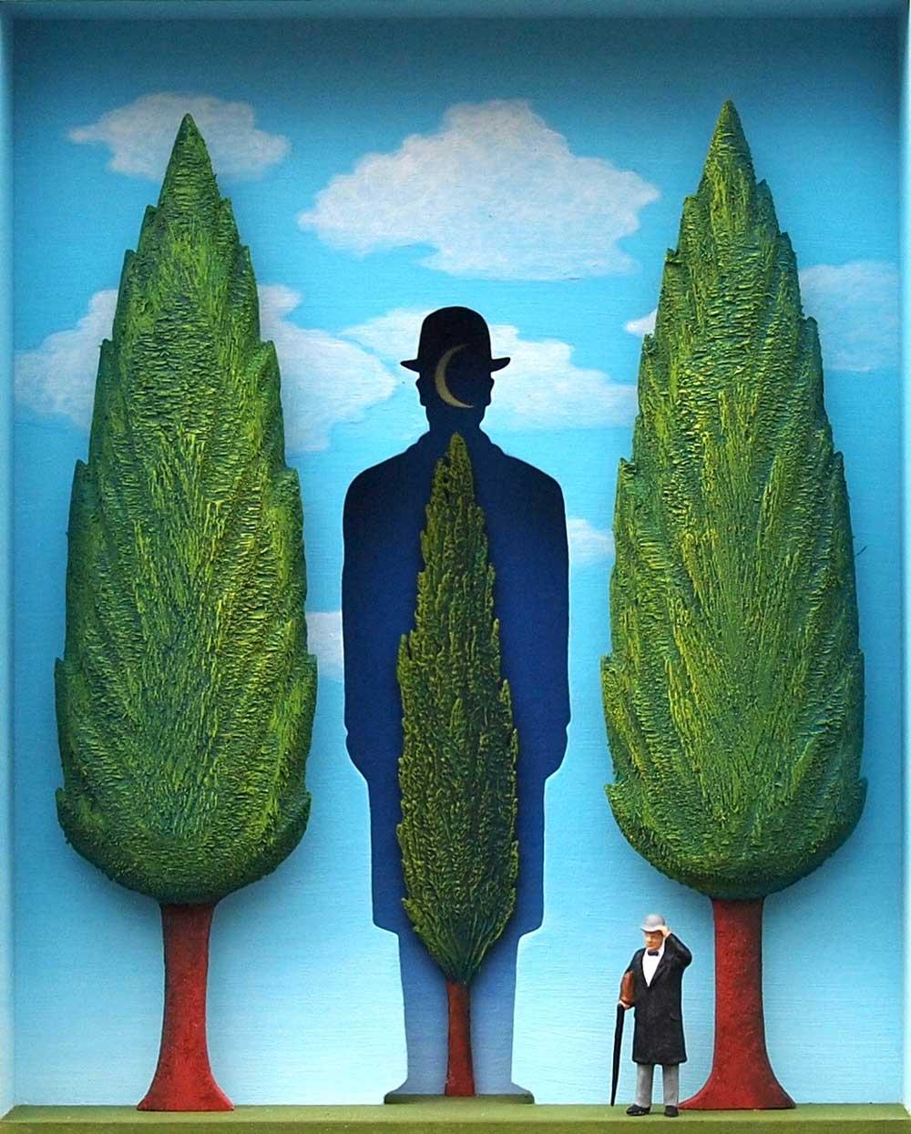 Volker Kühn - The-garden-of-Magritte - Art in Boxes