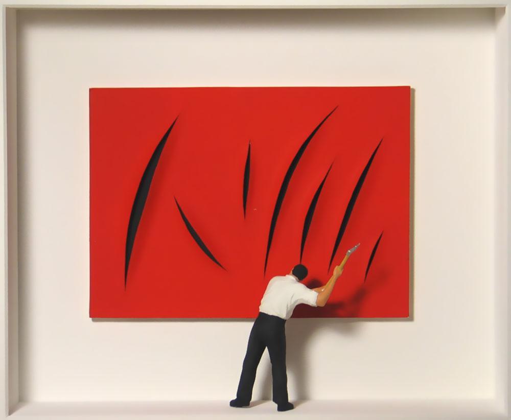 Volker Kühn - hommage à Fontana - Art in Boxes