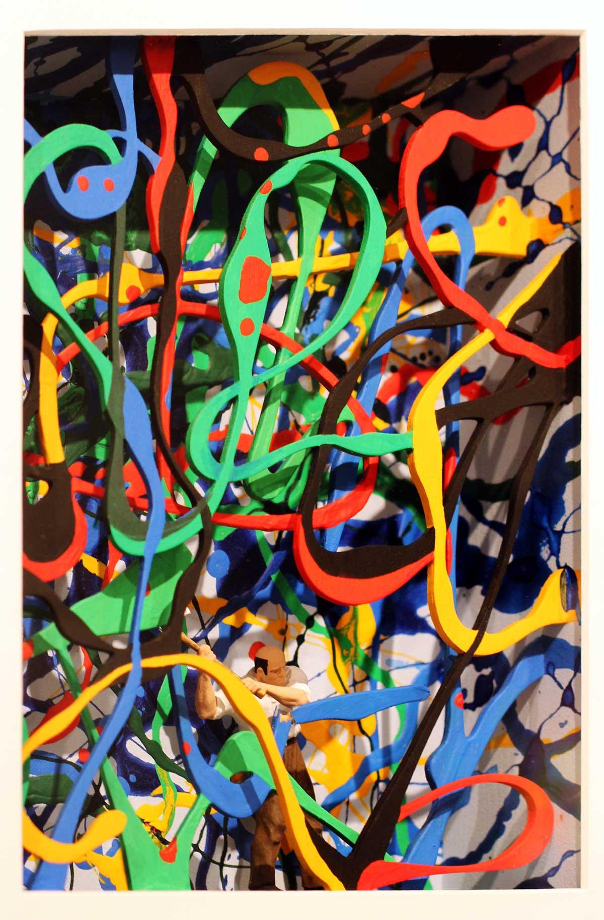 Volker Kühn - hommage à Pollock - Art in Boxes
