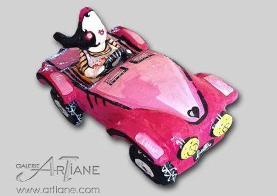 Pink Car - 105x46cm et pied 1 mètre inclu