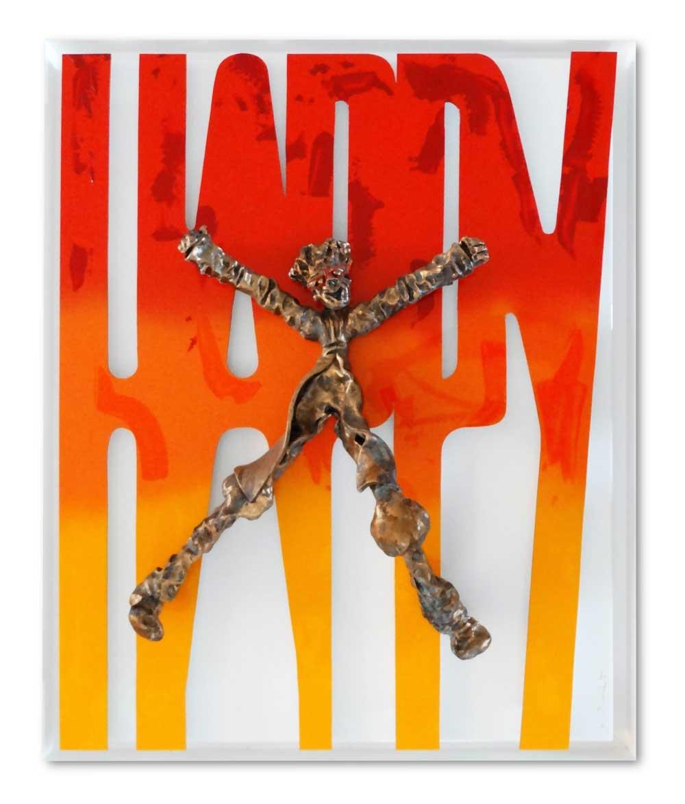 Bernard Saint Maxent - Happy - 100x100cm