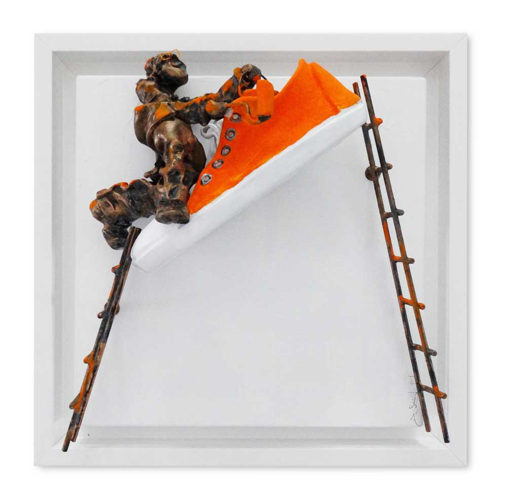 Bernard Saint Maxent - Paint shoes - clin-d'oeil - 40x40cm