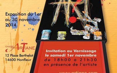 Vernissage et Expo Bernard Saint Maxent