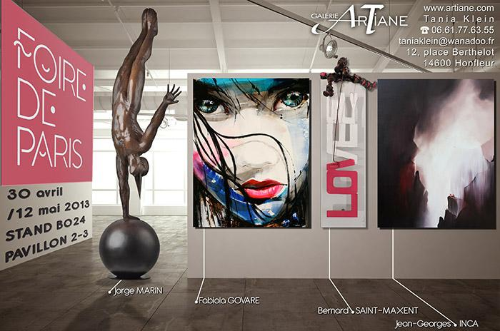 foire de paris 2013 artiane galerie d 39 art honfleur. Black Bedroom Furniture Sets. Home Design Ideas