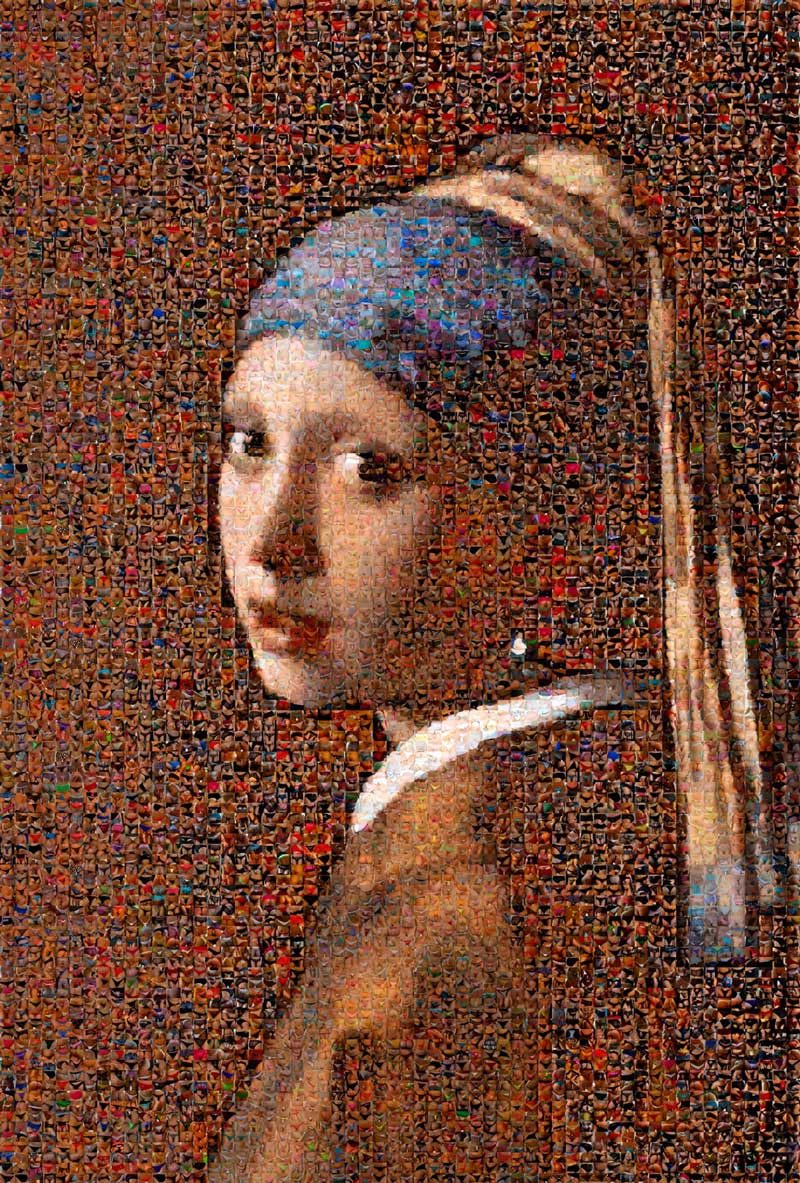 Joel Moens - The Girl With The Pearl Earing - chromalux - 100x68cm