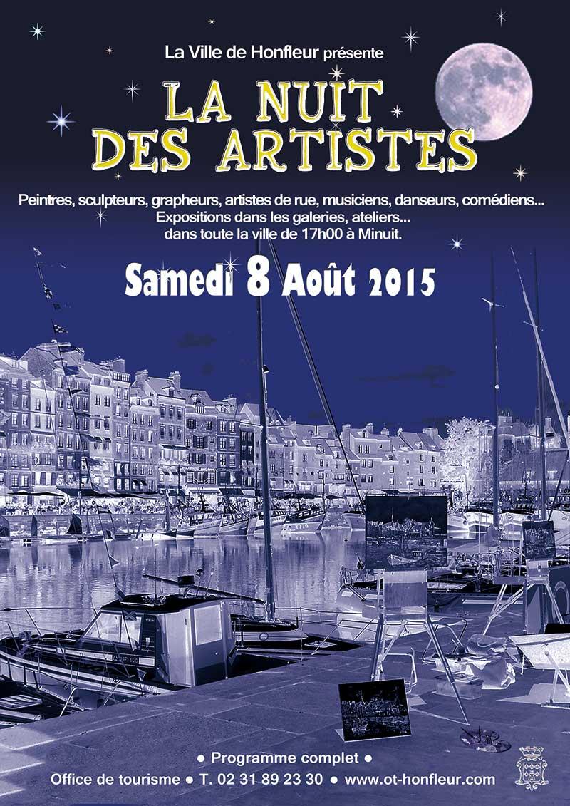 Affiche Nuit Des Artistes Honfleur