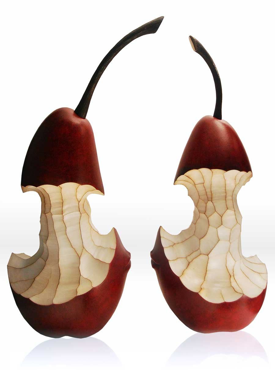 Anthropomorphic Fruit Sculpture - Dominique Rayou