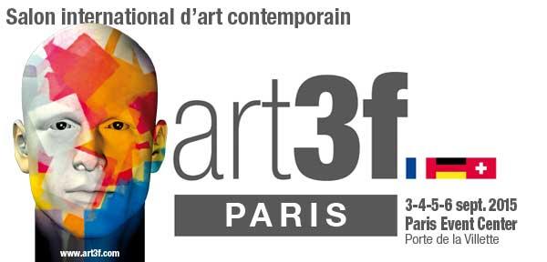 Invitation Salon d'art contemporain art3f Paris 2015