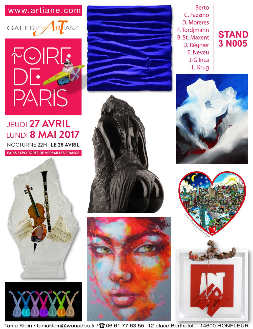 foire de paris artistes exposants 2018 13 artistes invitations. Black Bedroom Furniture Sets. Home Design Ideas