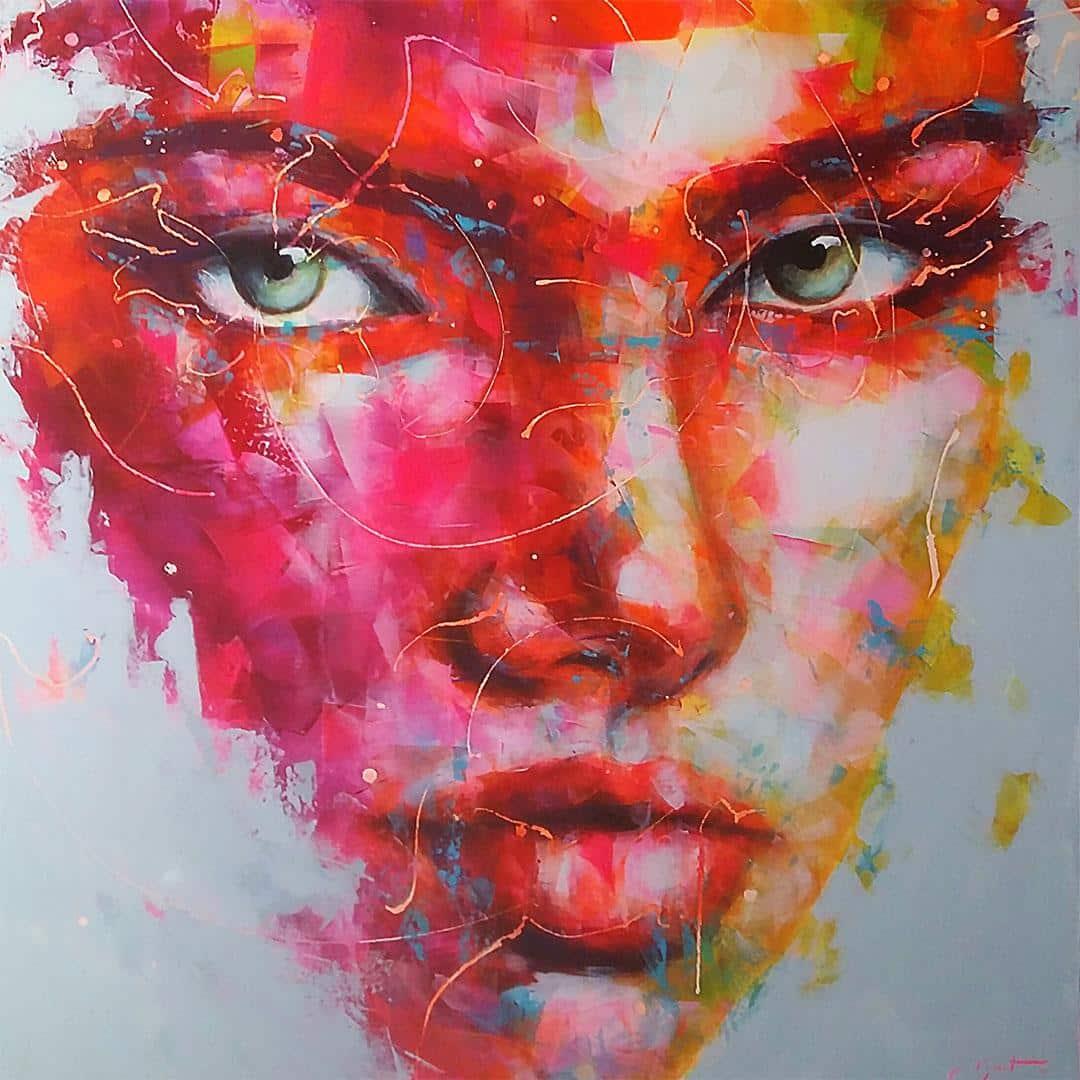 peintre portraitiste contemporain Berto