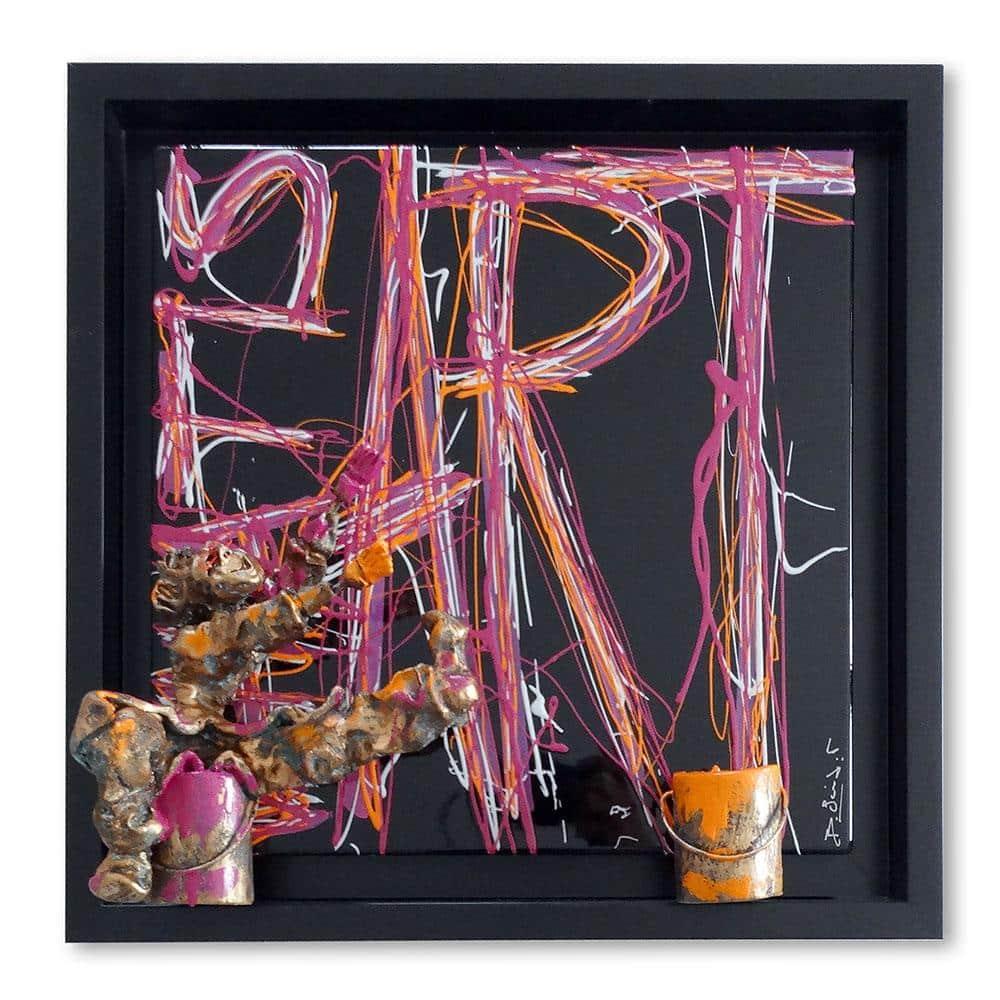 Bernard Saint Maxent - Black Art - 50x50cm