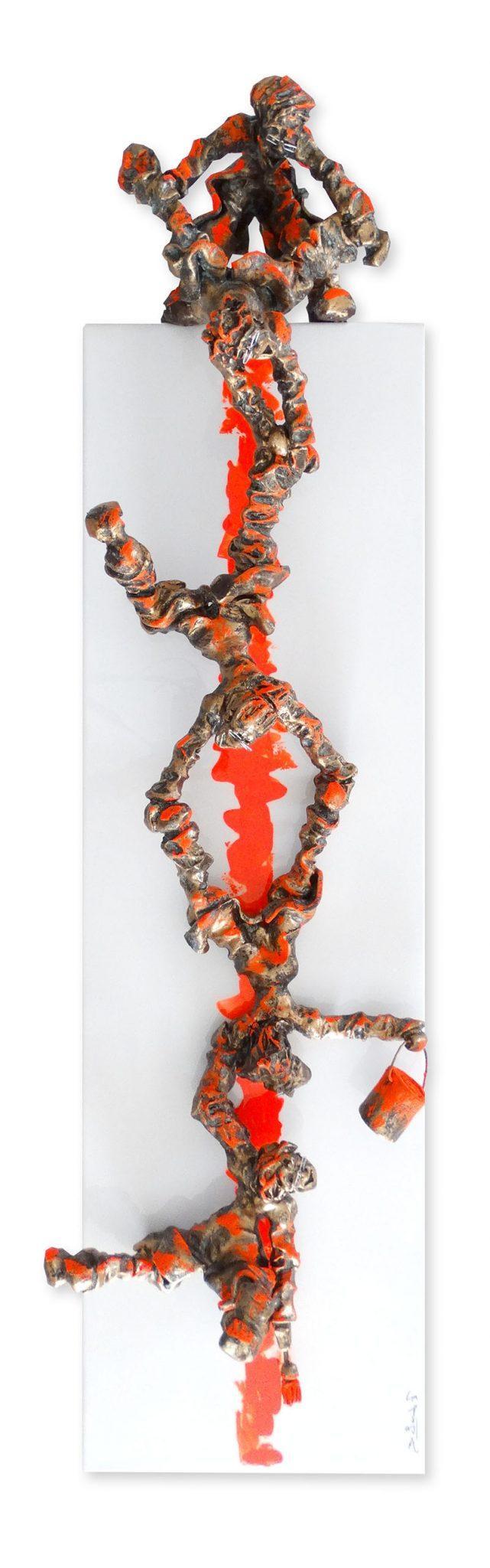 Bernard Saint Maxent - Fluo cascade - 30x100cm
