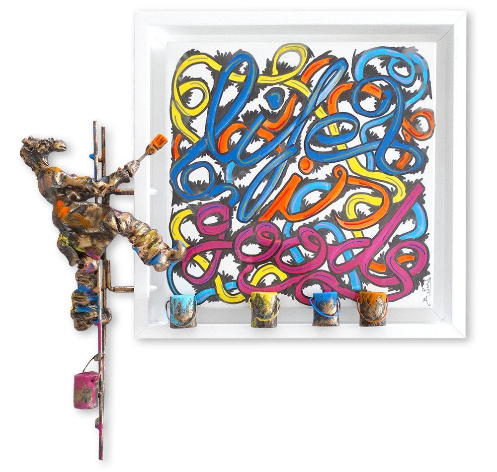 Bernard Saint Maxent - Good life - 50x50cm