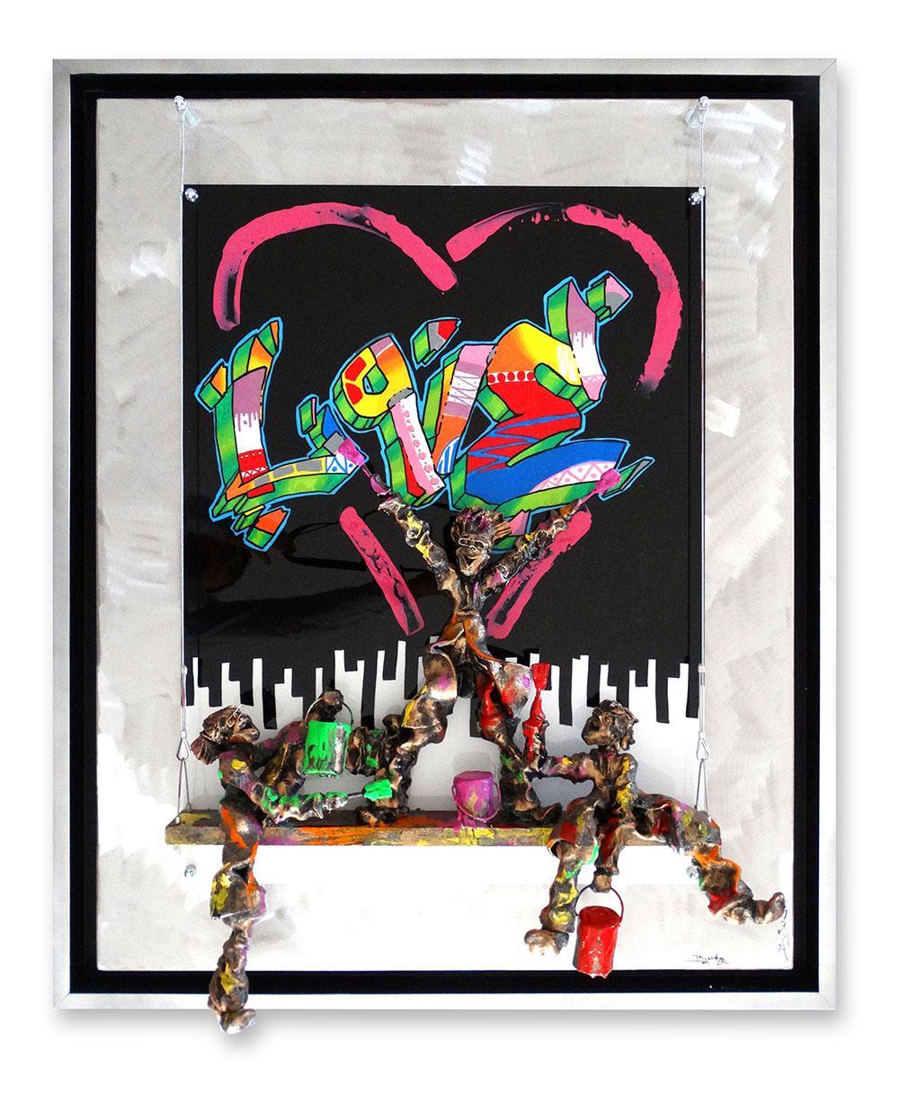Bernard Saint Maxent - Graffiti love - 80x100cm