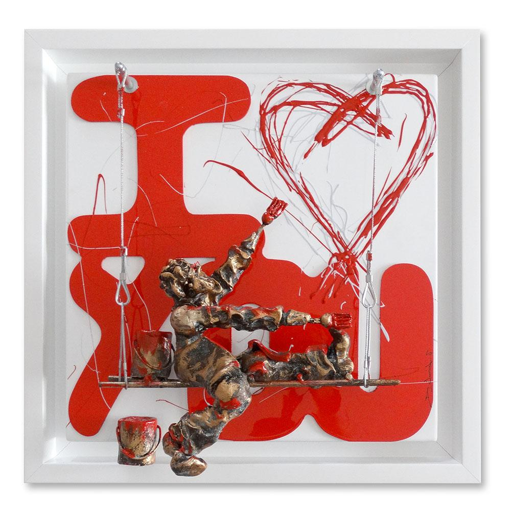 Bernard Saint Maxent - I love you - 50x50cm