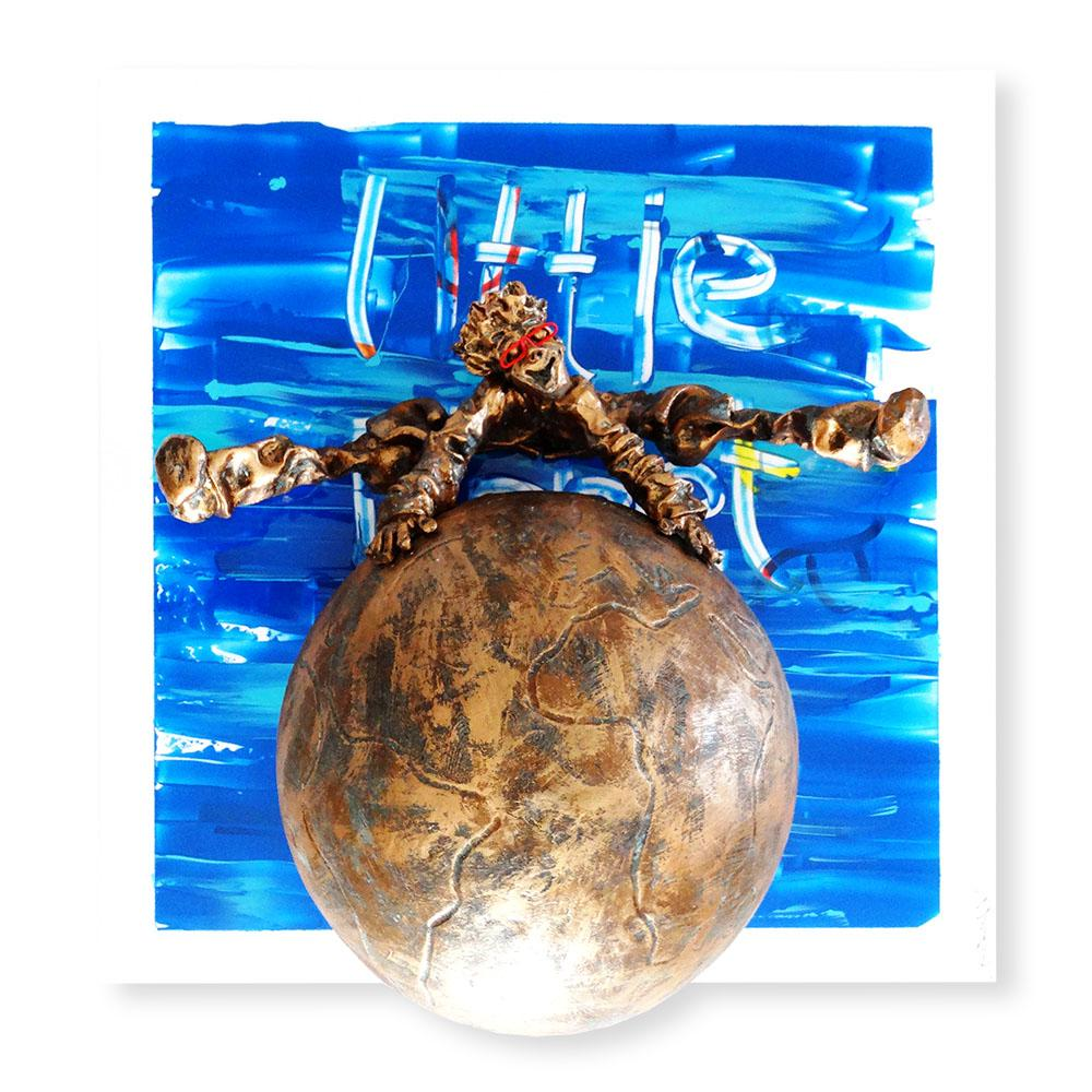 Bernard Saint Maxent - Little planet - 80x80cm