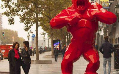 la galerie Artiane à Bruxelles – Richard Orlinski Wild Kong!